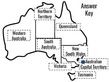 States of Australia: A cut and paste activity by Resources