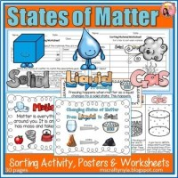 States of Matter activities, worksheets, definition cards ...
