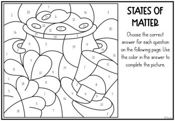 States of Matter Color by Number Activity (St Patrick's