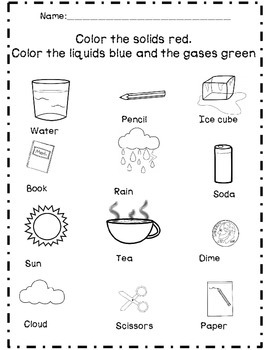 States of Matter: Solids, Liquids, & Gas Unit by The First