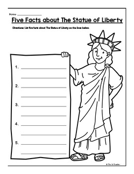 Statue of Liberty Nonfiction Reading Comprehension and