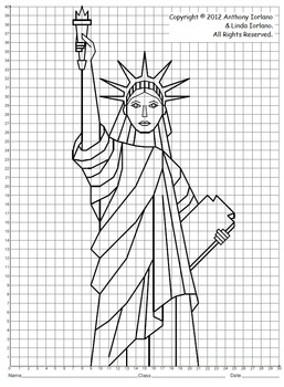 Statue of Liberty (Coordinate Graphing) by Anthony and