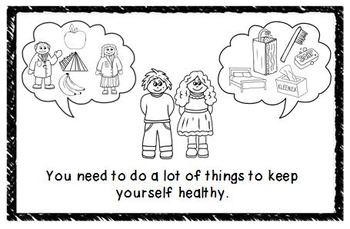 Staying Healthy Mini Book by Clip Art by Carrie Teaching