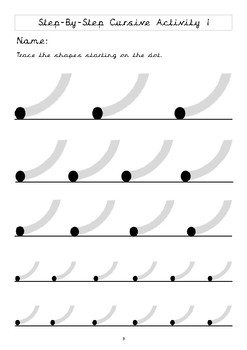 Cursive Step By Step