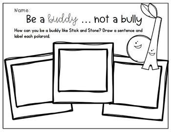 Stick and Stone Friendship and Anti-Bullying First Weeks