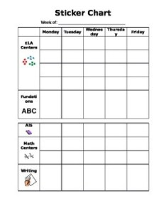 Sticker chart editable also by especially for special education tpt rh teacherspayteachers