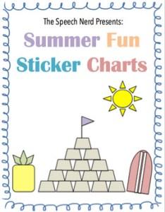 Sticker charts summer fun edition editable also by the speech nerd rh teacherspayteachers