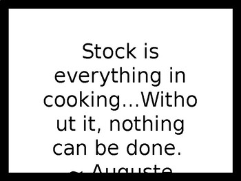 Stocks, Sauces & Soups PowerPoint Presentation by The 3