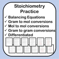Stoichiometry Practice Worksheet w/ Answer Key 2 Versions ...