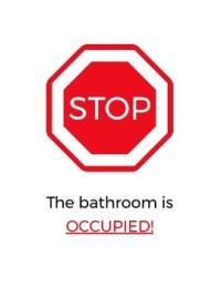 Stop & Go Classroom Bathroom Sign by The Meurig Group | TpT
