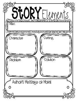 Story Elements Assessment/Graphic Organizer by Studly