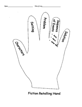 Story Elements Hand used with nonfiction text by Jordan's