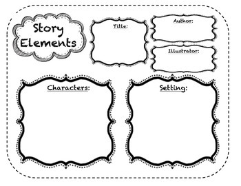 Story Elements Map for Stations or Individual Work by