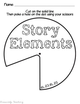 Story Elements Spinner for Interactive Notebook by
