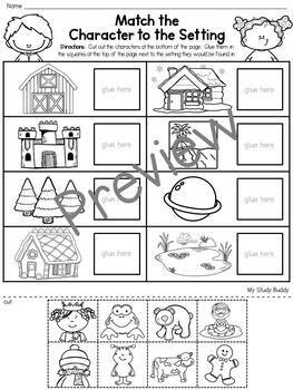 Story Elements Worksheets & Smart Board Activities by My