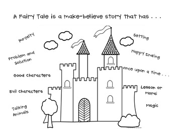 Story Elements of a Fairy Tale Student Chart by Life is