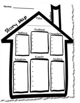 Story Map House Outline Graphic Organizer Template