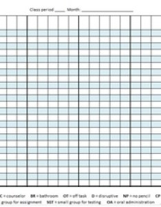 Student behavior chart log for middle school or high also by coach rh teacherspayteachers