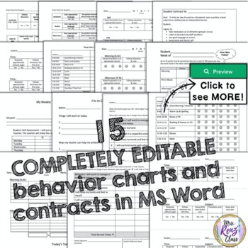 Behavior Contracts and Behavior Point Charts (Fully