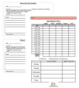 Student Behavior Plan (Behavior Management Packet) by The