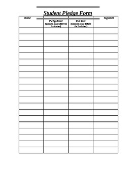 Student Fundraising Pledge Form by Liz and Ron | TpT