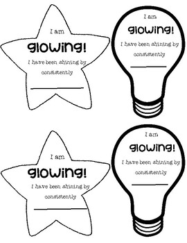 Student Glow and Grow Shoutouts by Miss Stophers Classroom