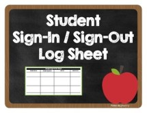 student sign in and sheet
