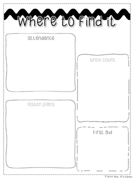 Editable Substitute Binder { Modern Black White } The