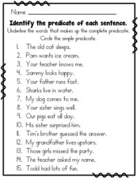Subject Predicate 2nd Grade by Rock Paper Scissors | TpT