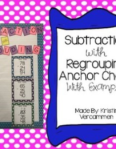 also subtraction anchor chart with and without regrouping rh teacherspayteachers