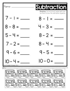 Subtraction Worksheets With Counters by The Printable