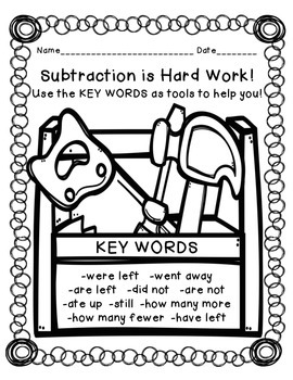 Subtraction is Hard Work! Worksheets for 2nd and 3rd