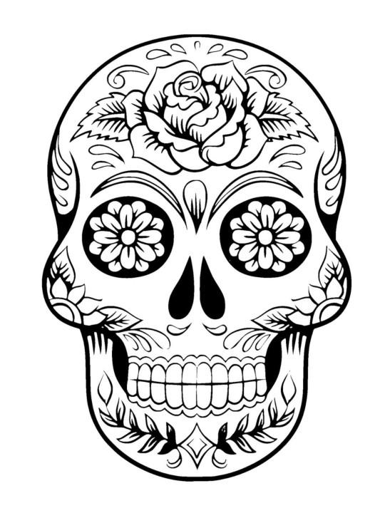 Sugar Skull Template Sugar Skull Coloring Page Sugar Skull