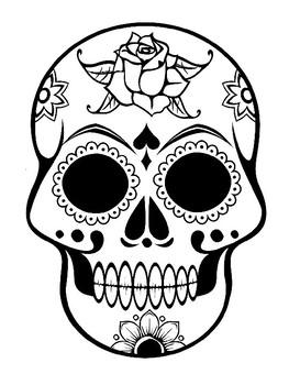 Sugar Skull Template Sugar Skull Coloring Page Dis De Los