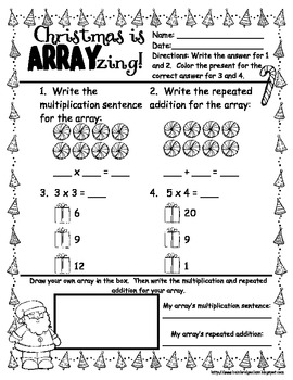 Suit up, Santa- Christmas arrays and multiplication CCSS
