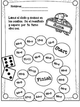Sumas (Juego: Escalera) Matemáticas Divertidas by Teachers