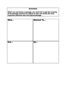 Summarizing Worksheet By Stefania Hughes