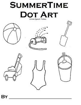 Summer Dot Art Vocabulary Activity Book (Speech