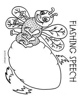 Summer Firefly Speech Therapy Craft (articulation language