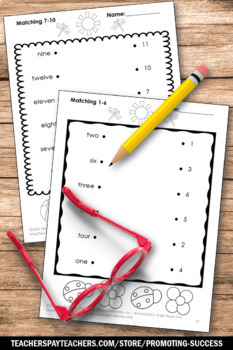 Counting Interactive Notebook, Kindergarten Counting Cut