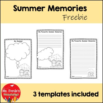 Summer Memories Freebie (Back to School Activity) by Ms