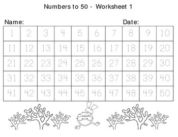 Writing Numbers To 50 And 100 Summer Themed Worksheets By