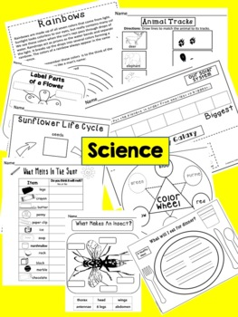 Kindergarten Summer Homework Pack Print & Go~Get Ready For