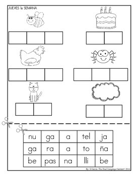 Summer Homework Packet: Spanish Kindergarten by The Dual
