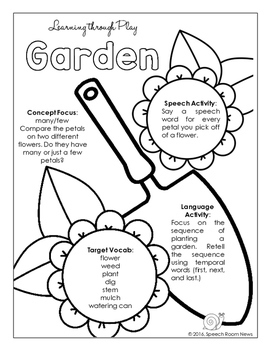 Summer Preschool Speech and Language Packet VERSION 2 by