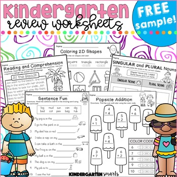 Summer Review Free By Kindergarten Smarts  Teachers Pay
