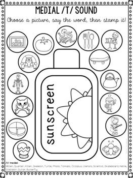 Summer Speech Sound Worksheets- No Prep by The SLT