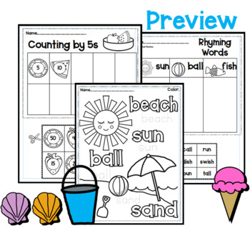 Summer Unit for Pre-K and Kindergarten by Intentional