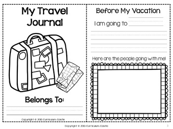 Summer Vacation Travel Journal {NO PREP}! by Curriculum