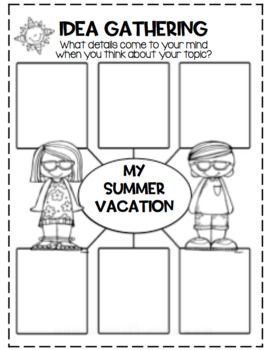 Summer Vacation Writing Activities...FREE by First Grade